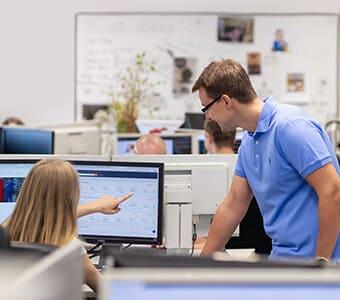 Tense office open space