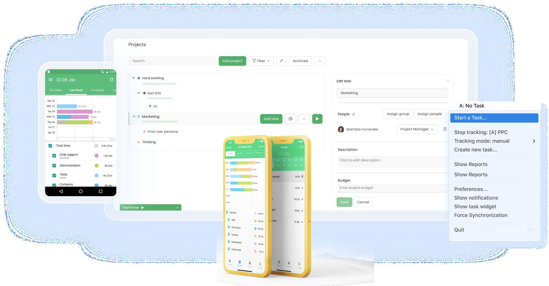 TimeCamp platforms