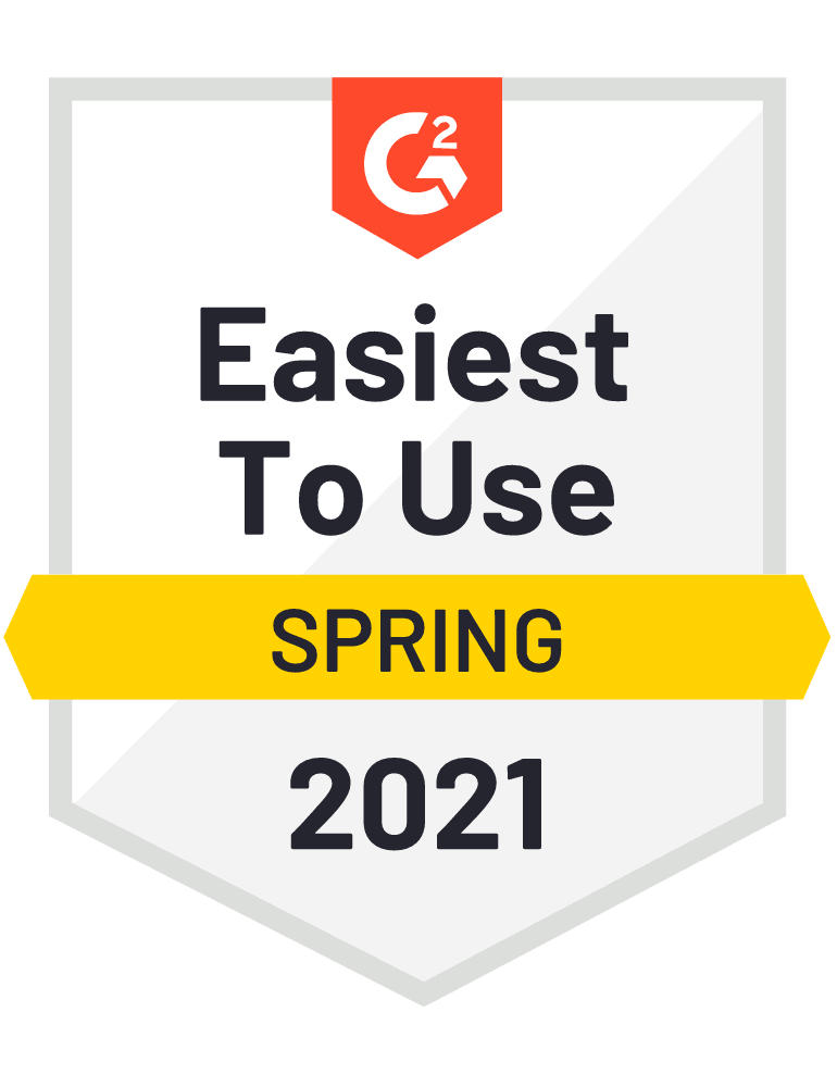 G2Crowd Easiest To Use