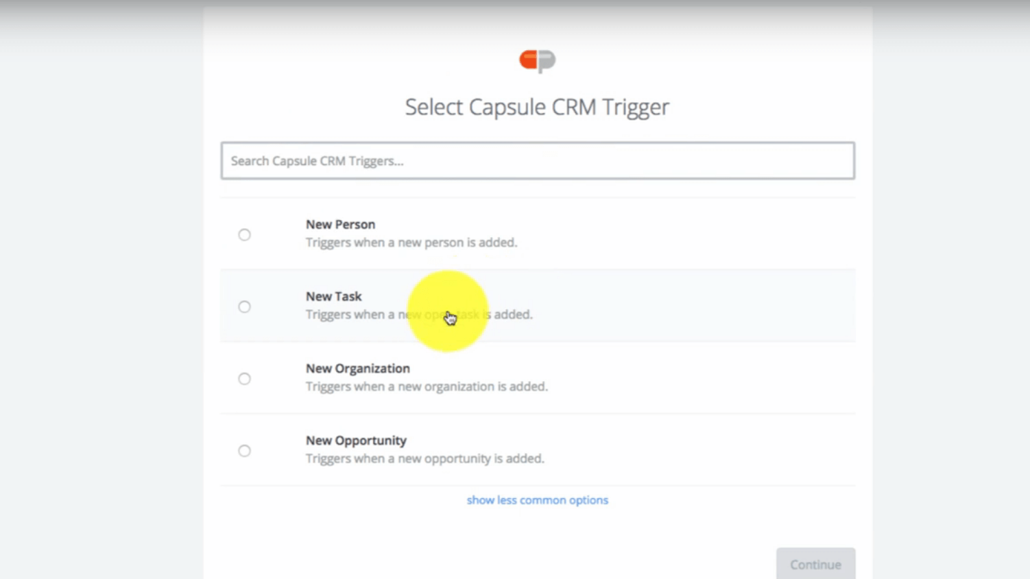 Capsule CRM Time Tracker