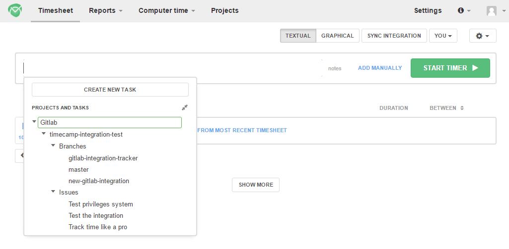 Gitlab Time Tracker