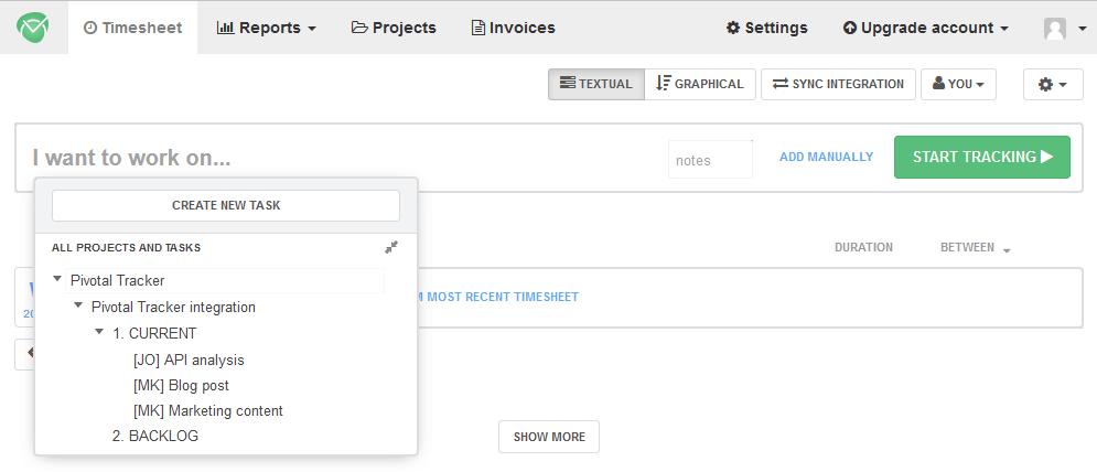 Pivotal Tracker Time Tracker