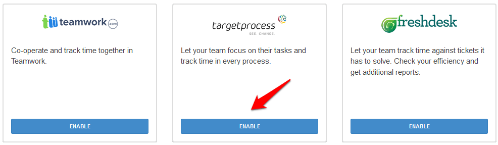 Target Process Time Tracker