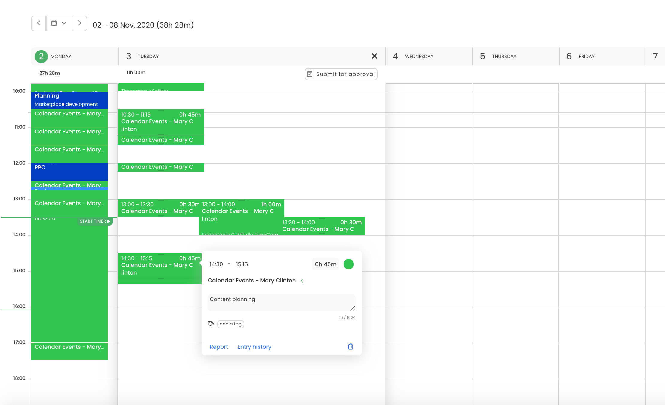 iCal time tracking